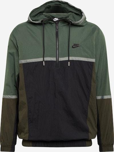 Nike Sportswear Övergångsjacka i mörkgrön / svart, Produktvy