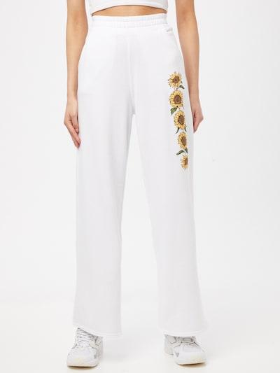 Pantaloni HOLLISTER pe galben / verde / alb, Vizualizare model