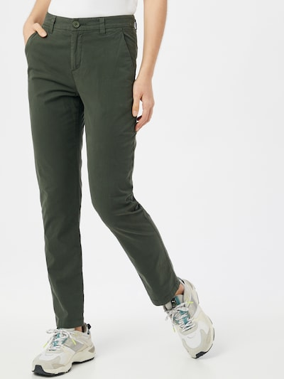 KnowledgeCotton Apparel Chino trousers 'WILLOW' in Dark green, View model