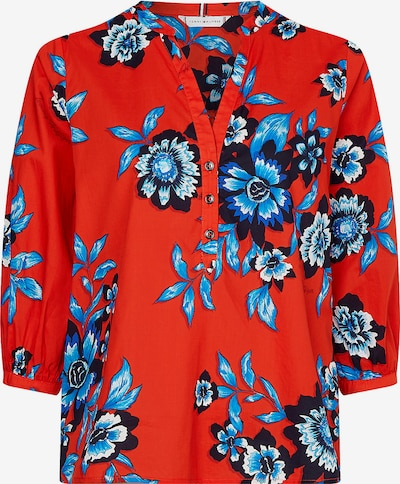 Tommy Hilfiger Curve Bluse in blau / navy / rot, Produktansicht
