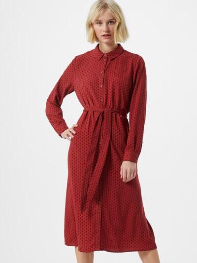 JDY Robe-chemise en rouge rouille / noir, Vue avec modèle