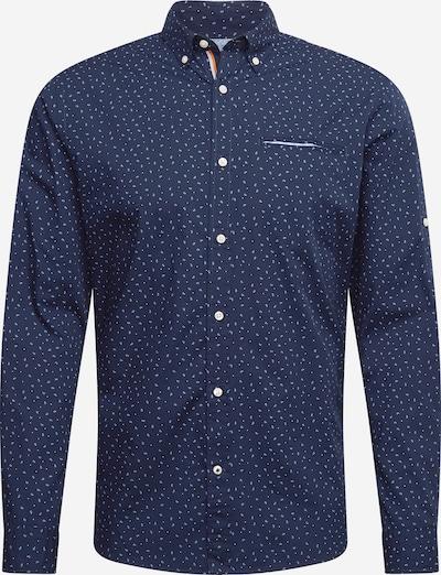 JACK & JONES Overhemd 'THOMAS' in de kleur Navy / Wit, Productweergave