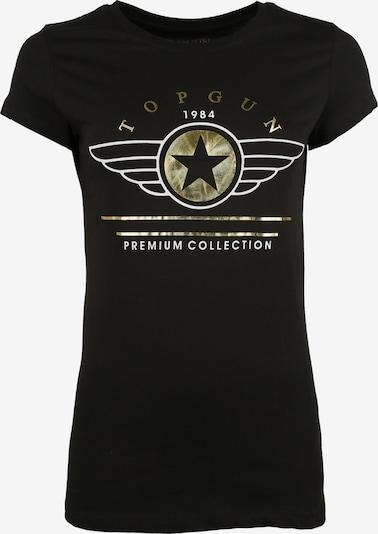 TOP GUN Shirt ' TG20193050 ' in de kleur Goud / Zwart / Wit, Productweergave