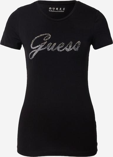 GUESS Тениска в черно / сребърно, Преглед на продукта