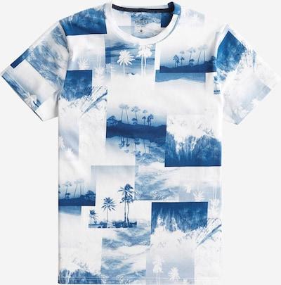 HOLLISTER Majica | modra / bela barva, Prikaz izdelka