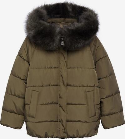MANGO Zimná bunda 'Botanic' - kaki / čierna melírovaná, Produkt