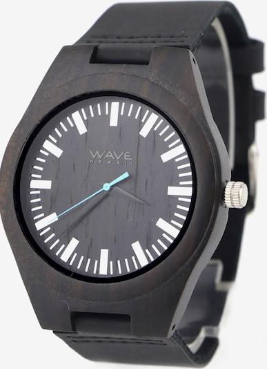 Wave Hawaii Montre à affichage analogique ' Ebenholz/Leder ' en noir, Vue avec produit