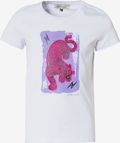 Cars Jeans Shirt in de kleur Lichtlila / Pink / Zwart / Wit, Productweergave