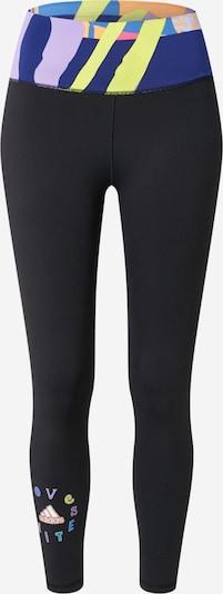 ADIDAS PERFORMANCE Pantalon de sport 'Love Unites Believe' en bleu / citron vert / orange / noir, Vue avec produit