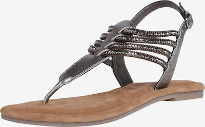 TAMARIS T-bar sandals in Silver grey / Black, Item view