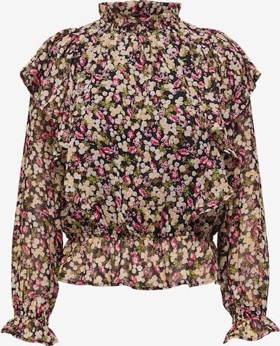 ONLY Bluse 'INGRID' in creme / oliv / mischfarben / rosa / schwarz, Produktansicht