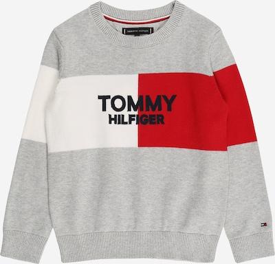 TOMMY HILFIGER Sveter - sivá / červená / biela, Produkt