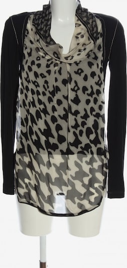 Heymann Langarm-Bluse in XS in creme / schwarz, Produktansicht