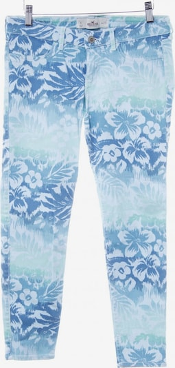 HOLLISTER Pants in S in Blue / Turquoise / Sky blue: Frontal view
