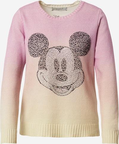Frogbox Pull-over 'Mickey' en jaune / rose / noir, Vue avec produit