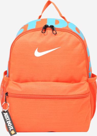 Nike Sportswear Rugzak 'Brasilia' in de kleur Turquoise / Sinaasappel / Wit, Productweergave
