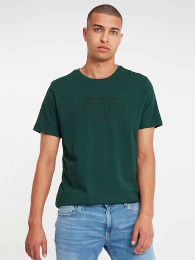 Cross Jeans T-Shirts in dunkelgrün: Frontalansicht
