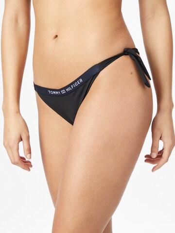 juoda TOMMY HILFIGER Bikinio kelnaitės