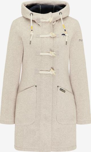 Schmuddelwedda Fleece jas in de kleur Offwhite: Vooraanzicht