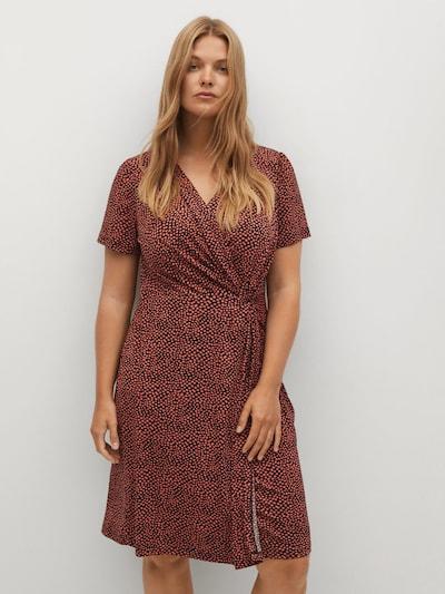 Rochie VIOLETA by Mango pe roșu pepene / negru, Vizualizare model