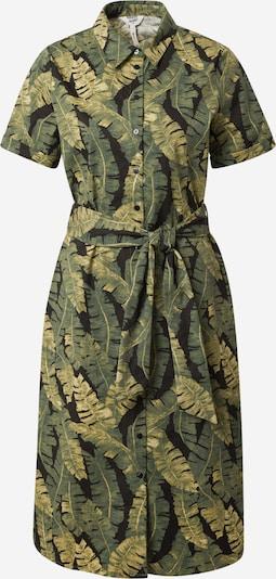 OBJECT Robe-chemise 'FANA' en olive / vert foncé / noir, Vue avec produit