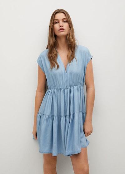 MANGO Kleid 'Siren' in kobaltblau, Modelansicht