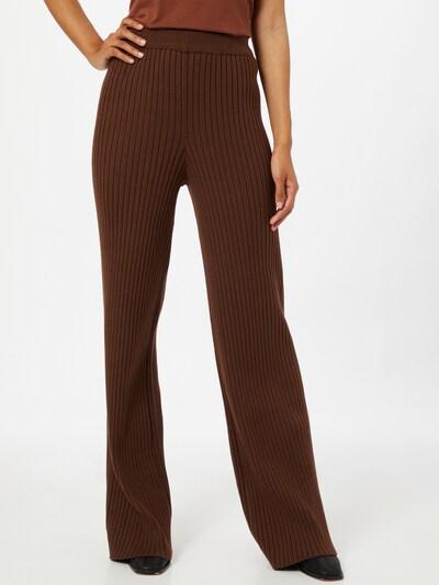 NA-KD Kalhoty - hnědá, Model/ka
