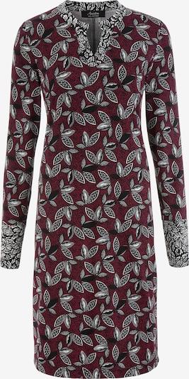 Aniston SELECTED Kleid in grau / bordeaux / weiß, Produktansicht