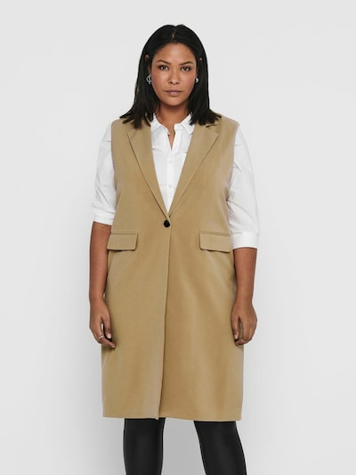 ONLY Carmakoma Vest in Beige, View model