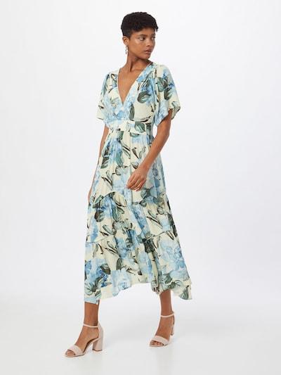 Y.A.S Kleid 'ROSEBLOOM' in hellblau / gelb / grün, Modelansicht