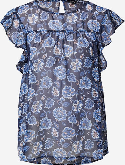 OVS Bluse in rauchblau / nachtblau / apricot / weiß, Produktansicht