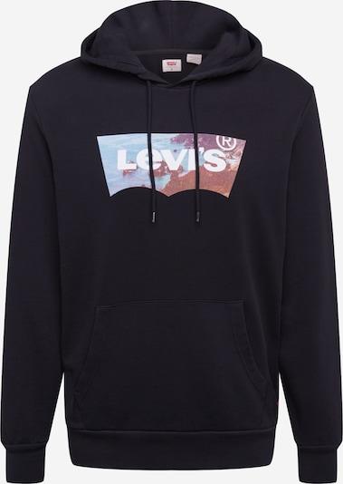 LEVI'S Sweatshirt in blau / schwarz / weiß, Produktansicht