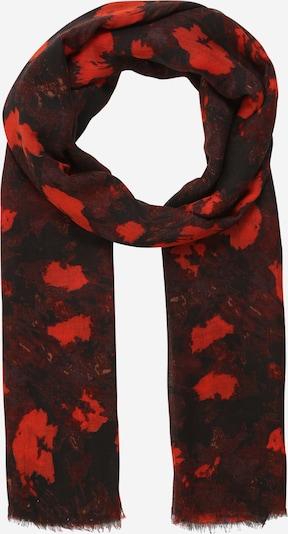 InWear Écharpe 'Mila' en orange / rouge / rouge sang / noir, Vue avec produit