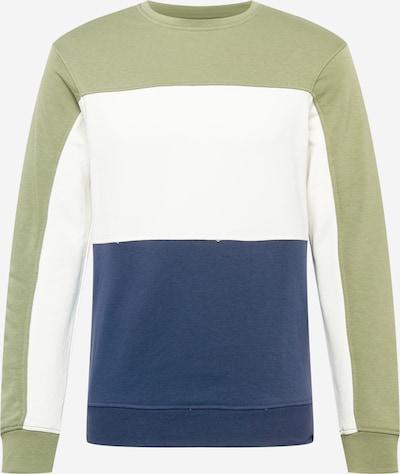Bluză de molton BLEND pe albastru închis / oliv / alb, Vizualizare produs
