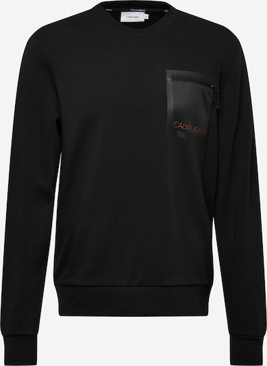 Calvin Klein Sweatshirt in melone / schwarz, Produktansicht