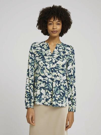 MINE TO FIVE Bluse in kitt / taubenblau / hellgelb, Modelansicht