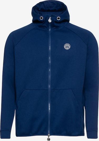 BIDI BADU Sweatjacke mit hohem Kragen und Kapuze in blau, Produktansicht