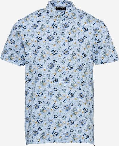 Bruun & Stengade Тениска 'Subbu' в морскосиньо / синьо меланж / златистожълто, Преглед на продукта