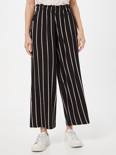 TOM TAILOR DENIM Kalhoty - světle hnědá / černá / bílá, Model/ka