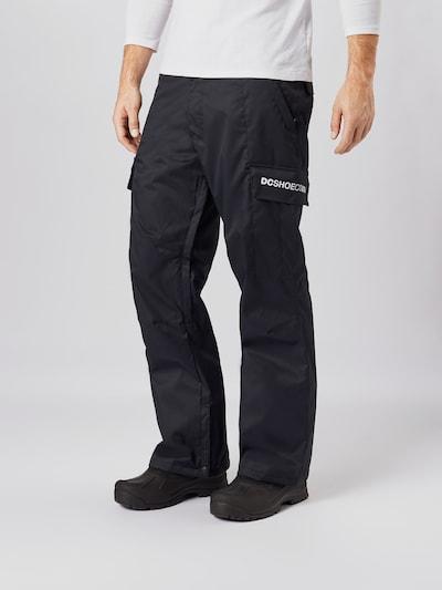 DC Shoes Sporthose 'Banshee' in schwarz / weiß: Frontalansicht