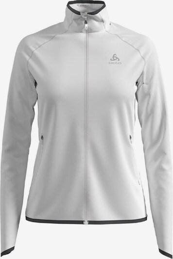 ODLO Pullover 'Midlayer full zip CARVE CERA' in weiß, Produktansicht