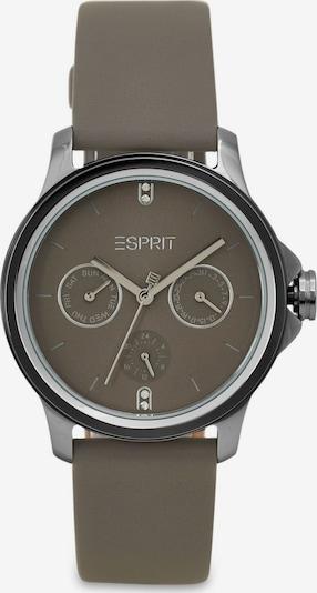 ESPRIT Analoog horloge in de kleur Olijfgroen / Zilver, Productweergave