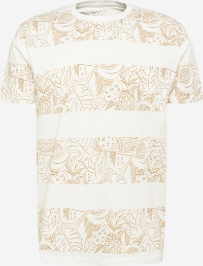 EDC BY ESPRIT Shirt in de kleur Goud / Offwhite, Productweergave