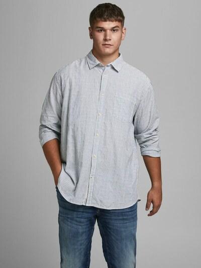 Jack & Jones Plus Košulja 'BLUJACOB' u plava / bijela: Prednji pogled