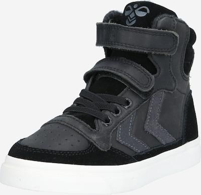 Hummel Sneakers 'STADIL OILED' in de kleur Antraciet / Zwart, Productweergave
