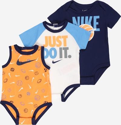 Nike Sportswear Romper/Bodysuit in Navy / Light blue / Grey / Orange / White, Item view