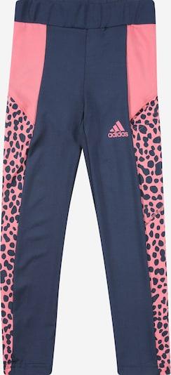 ADIDAS PERFORMANCE Pantalon de sport en bleu foncé / rosé, Vue avec produit