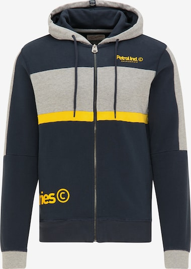 Petrol Industries Sweat-shirt en bleu marine / jaune / gris: Vue de face