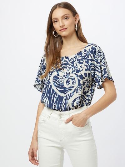 Esprit Collection Bluse in himmelblau / dunkelblau / offwhite, Modelansicht