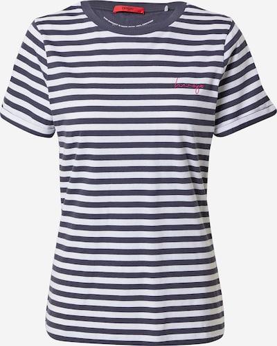 Tricou HUGO pe albastru închis / alb, Vizualizare produs